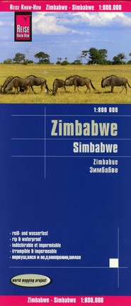 Reise Know-How Landkarte Simbabwe  1 : 800.000