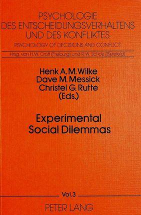 Experimental Social Dilemmas