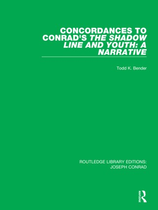 Concordances to Conrad's The Shadow Line and Youth: A Narrative