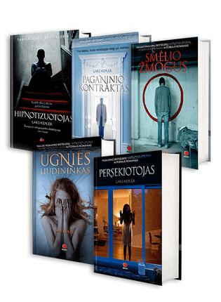 Lars Kepler Jono Linos istorijų serija: Hipnotizuotojas + Paganinio kontraktas + Ugnies liudininkas + Smėlio žmogus + Persekiotojas