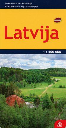 Latvija. Kelių žemėlapis. M 1:500 000