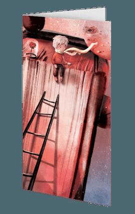 """""""Mažasis princas"""": dvigubas vertikalus atvirukas + citata"""