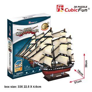 "3D dėlionė: laivas ""USS Constitution"""