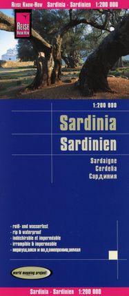 Reise Know-How Landkarte Sardinien 1 : 200.000