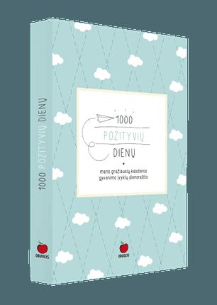 1000 POZITYVIŲ DIENŲ: mano gražiausių kasdienio gyvenimo įvykių dienoraštis (knyga su defektais)
