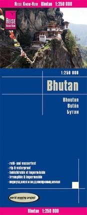 Reise Know-How Landkarte Bhutan 1 : 250.000