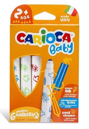 Flomasteriai SuperBaby CARIOCA 6 sp.