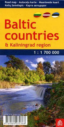 Baltijos šalių ir Kaliningrado regiono žemėlapis
