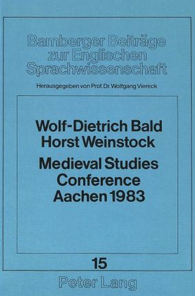 Medieval Studies Conference Aachen 1983