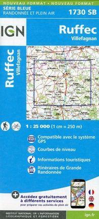 Ruffec - Villefagnan 1 : 25 000 Carte Topographique Serie Bleue Itineraires de Randonnee