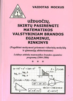 Užduočių, skirtų pasirengti matematikos valstybiniam brandos egzaminui, rinkinys