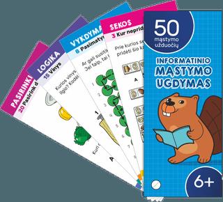 50 Kortelių rinkinys 6+ (2 dalis) Informatinio mąstymo ugdymas