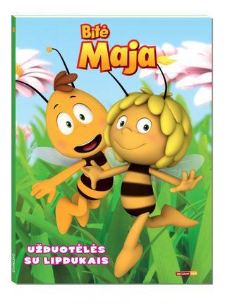 Bitė Maja. Užduotėlės su lipdukais