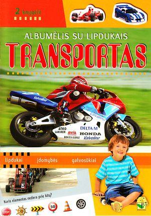 Albumėlis su lipdukais. Transportas (2 knygelė)