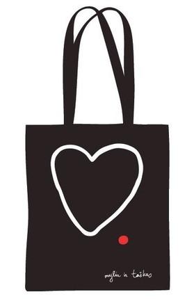 """Drobinis maišelis """"Myliu ir taškas"""""""