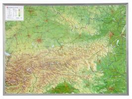 Österreich 1 : 800.000 mit Aluminium Rahmen