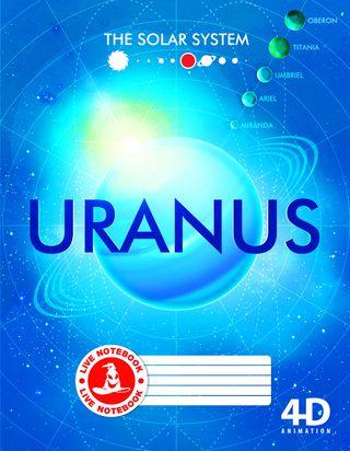 Atgyjantis 4D sąsiuvinis Uranas (linijomis, 48 l.)