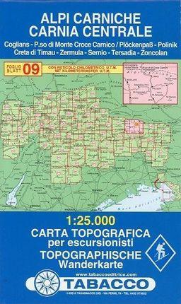Tabacco Wandern 1 : 25 000 Alpi Carniche Carnia Centrale
