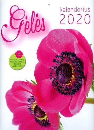 2020 m. sieninis kalendorius Gėlės