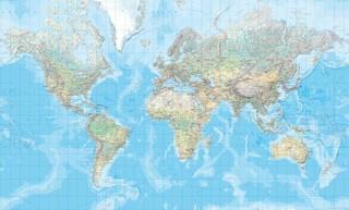 Die Welt Karte.Knyga Die Welt Physische Karte 1 20 000 000 Plano
