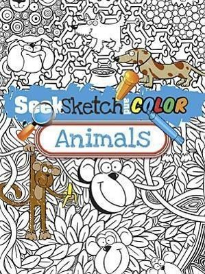 Seek, Sketch and Color Animals
