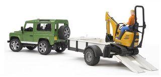BRUDER sunkvežimis Land Rover ir ekskavatorius su darbuotoju, 2593
