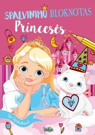 Spalvinimo bloknotas: princesės