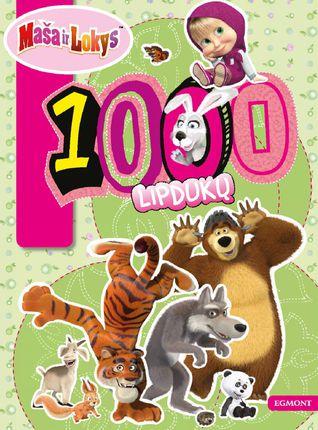 Maša ir Lokys. 1000 lipdukų (knyga su defektais)