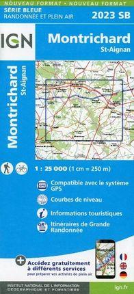 Montrichard - St. Aignan 1 : 25 000 Carte Topographique Serie Bleue Itineraires de Randonnee