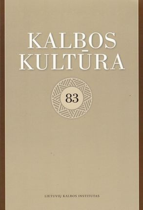 Kalbos kultūra 83