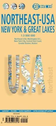 Northeast-USA 5. New York & the Great Lakes 1 : 3 000 000 + City Maps
