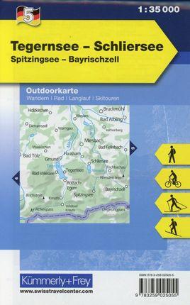 KuF Deutschland Outdoorkarte 05. Tegernsee - Schliersee 1 : 35 000