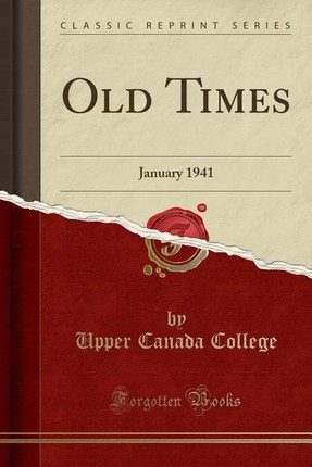 Old Times: January 1941 (Classic Reprint)