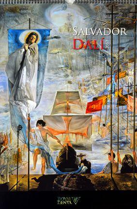 2017 metų sieninis kalendorius Salvador Dali su dovana