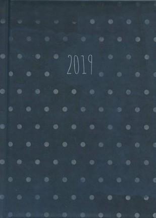 Darbo kalendorius TAŠKUOTAS (mėlynas) 2019 A5