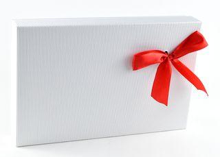 Dėžutė knygoms (balta, 16,5 x 25,5 x 4 cm)
