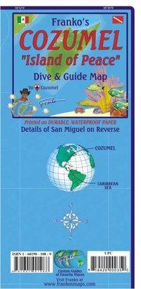 Franko Map Cozumel Dive Map