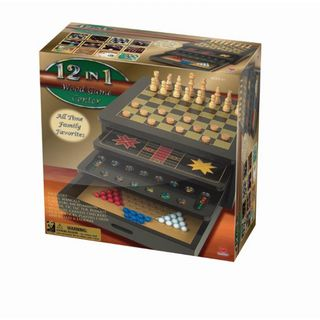 CARDINAL GAMES 12 žaidimų rinkinys Wood Game Center, 6033155