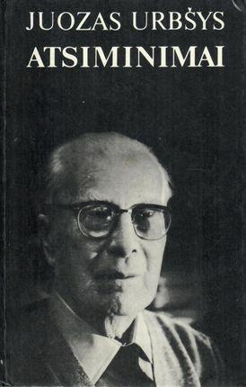 Juozas Urbšys. Atsiminimai