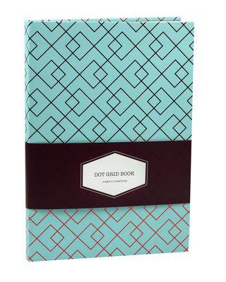 DOT GRID užrašinė Ornamental (rombai): išskirtinio dizaino aukštos kokybės užrašinė su lanksčiu viršeliu, puslapiais taškeliais ir juostele-skirtuku