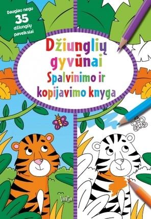 Džiunglių gyvūnai. Spalvinimo ir kopijavimo knyga