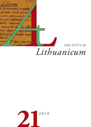Archivum Lituanicum 21