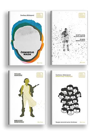 4 Svetlanos Aleksijevič knygų rinkinys: autentiški žmonių pasakojimai ir išgyvenimai