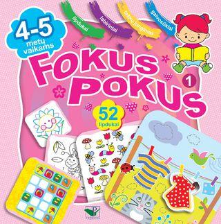 Fokus pokus 1. Ugdomieji žaidimai vaikams + 52 lipdukai!