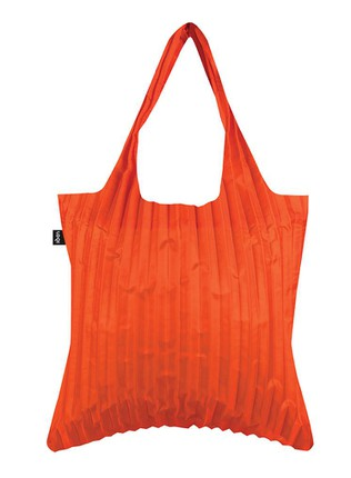"LOQI pirkinių krepšys ""PLEATED Orange Bag"""