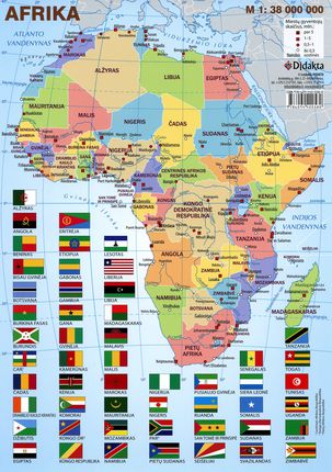 Afrikos politinis žemėlapis (A 4)
