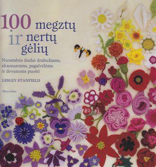 100 megztų ir nertų gėlių