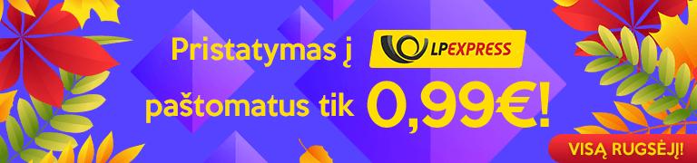 LP EXPRESS pristatymas tik 0.99 €
