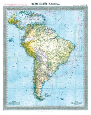 Historische Generalkarte von Südamerika 1903
