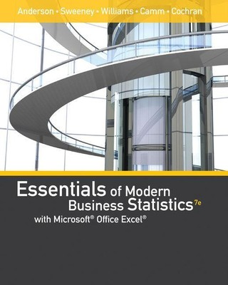 Essentials of Modern Business Statistics with Microsoftoffice Excel (with Xlstat Education Edition Printed Accesscard)